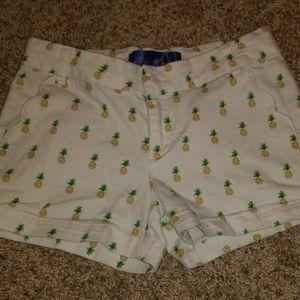 White pineapple shorts